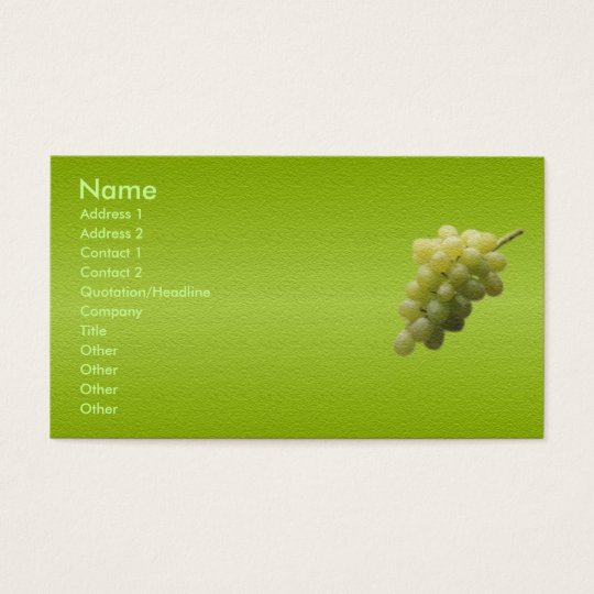 Grapes Business Card