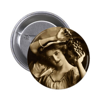 Grapes Pinback Button