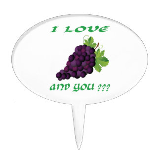 Grapes Cake Toppers