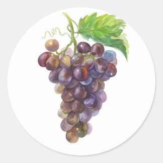 Grapes Classic Round Sticker