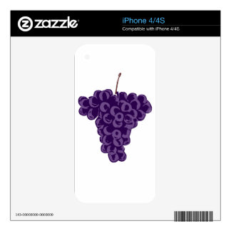 Grapes: Decals For iPhone 4