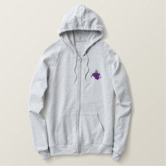Grapes Embroidered Hoodie