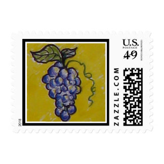Grapes for the Picking! Stamp