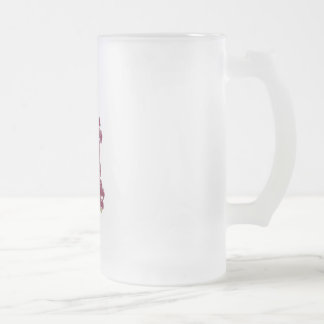 Grapes Frosted Glass Beer Mug
