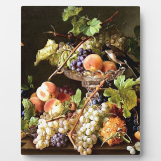 Grapes Fruit Bird Still Life painting Photo Plaques