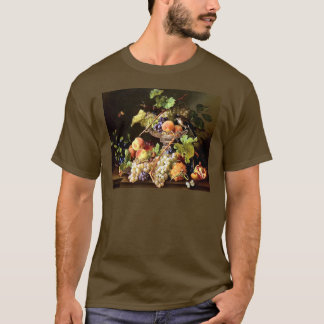 Grapes Fruit Bird Still Life painting T-Shirt