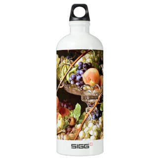Grapes Fruit Bird Still Life painting Water Bottle
