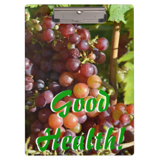 Grapes Good Health Clipboard