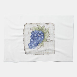 Grapes~ Handcrafted Courtyard Tile, Italy Kitchen Towel