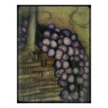 Grapes In A Basket Poster