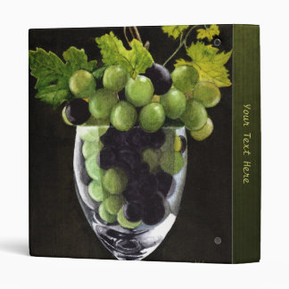 Grapes in a Glass 3 Ring Binder