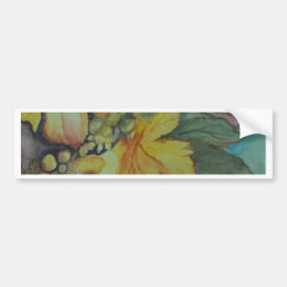GRAPES & LEAVES BUMPER STICKER