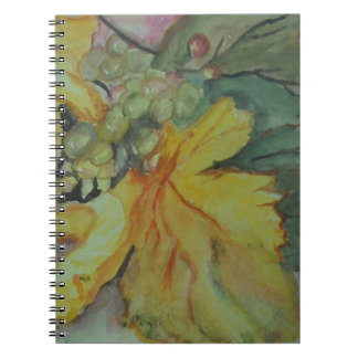 GRAPES & LEAVES NOTEBOOK