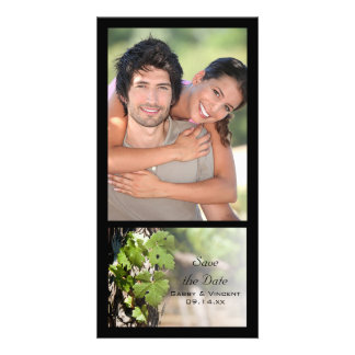 Grapes Leaves Vineyard Wedding Save the Date Card