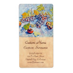 Grapes, Lemons, Pears and Apples Vincent van Gogh Personalized Shipping Label