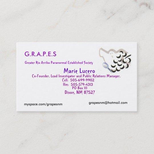 Grapes logo marie lucero po box 111 dixon n business card grapes logo marie lucero po box 111 dixon n reheart Images