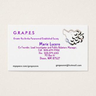 GRAPES Logo, Marie Lucero, PO Box 111, Dixon, N... Business Card