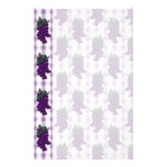 Grapes n Gingham Personalized Stationery
