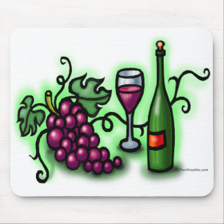 Grapes n Wine Mouse Pad