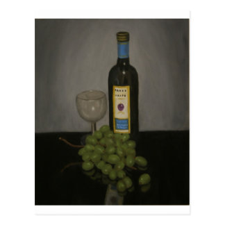 grapes n wine postcard