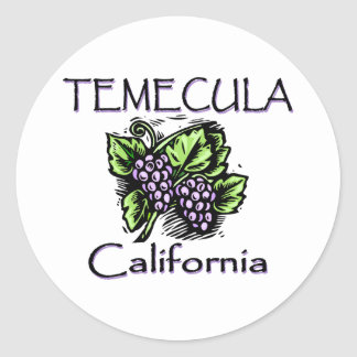 Grapes of Temecula Classic Round Sticker
