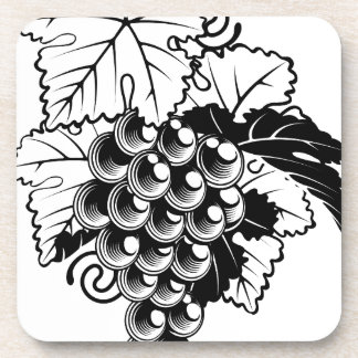 Grapes on Grapevine Drink Coaster