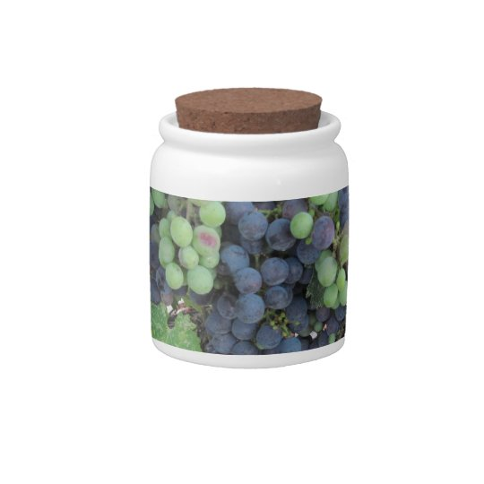 Grapes on the Vine, Aron Hill Vineyard Candy Jar