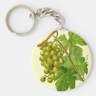 Grapes on the Vine Botanical Drawing Keychain