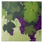 Grapes on the Vine Ceramic Tiles