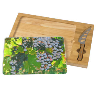 """GRAPES ON THE VINE"" CHEESE BOARD RECTANGULAR CHEESEBOARD"