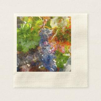 Grapes on the Vine in the Autumn Season Paper Napkin