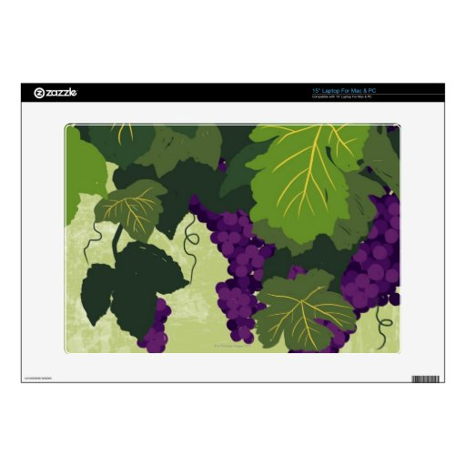 Grapes on the Vine Laptop Decal