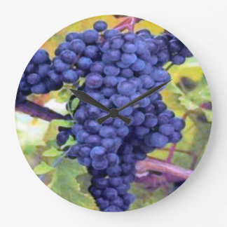 Grapes On The Vine Large Clock