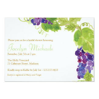 Grapes on the Vine Party Invitation