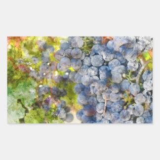 Grapes on the Vine ready to make Wine Rectangular Sticker