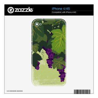 Grapes on the Vine Skins For iPhone 4S