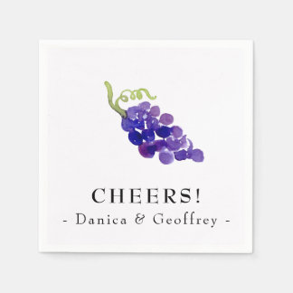 Grapes on the Vine Wine Party Napkins