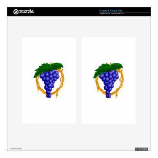 Grapes On Vine Kindle Fire Skin