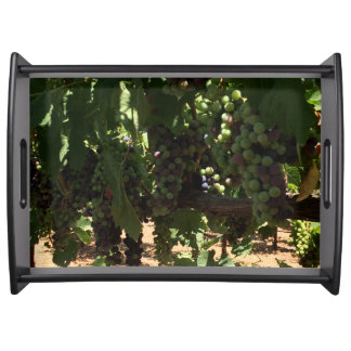 Grapes on Vine Serving Tray
