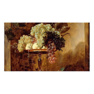 Grapes,Peaches,Quinces in a Niche by Frans Snyders Business Card Template