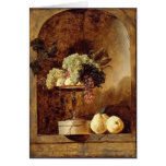 Grapes,Peaches,Quinces in a Niche by Frans Snyders Card