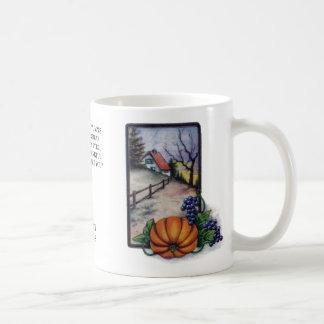 Grapes, Pumpkin and Home, Vintage Thanksgiving Coffee Mug
