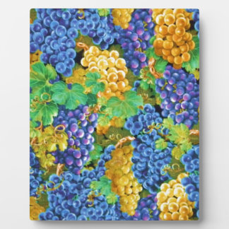 Grapes Purple Gold Abstract Customize add text Photo Plaque