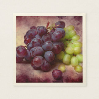 Grapes Red And Green Paper Napkin