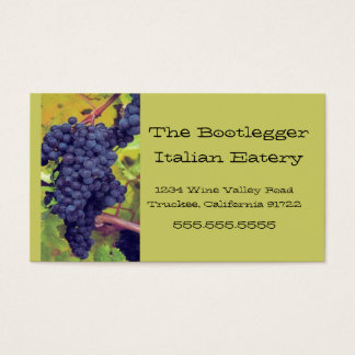 Grapes- Resturant Business Card