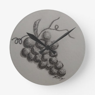 Grapes Round Clock