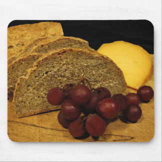 Grapes, Rye Bread and Cheese Mouse Pad