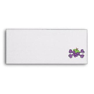 grapes Skull purple Crossbones Envelope