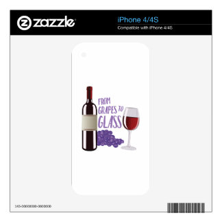 Grapes To Glass iPhone 4 Skin