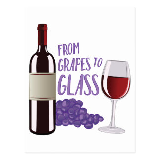 Grapes To Glass Postcard
